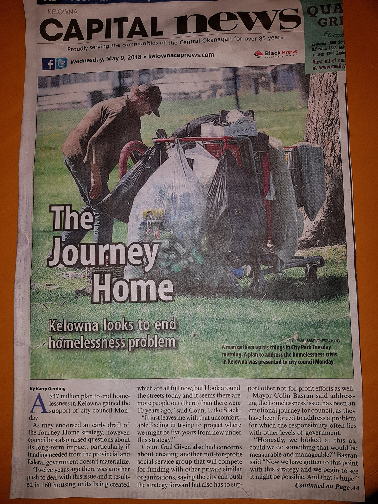 Journey Home Task Force Report on How to help the Homeless